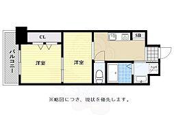 No122 ETERNITY NISSEKI STREET福岡日赤通り 12階2Kの間取り