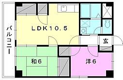 昭電ハイツ[401 号室号室]の間取り
