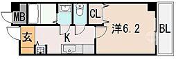 モアナコート[2階]の間取り