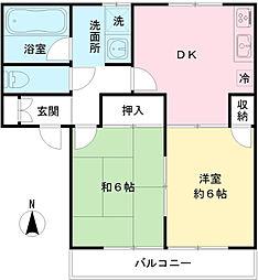 クレールハイムD[2階]の間取り