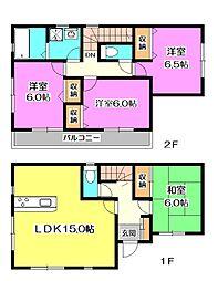 [一戸建] 埼玉県新座市畑中1丁目 の賃貸【/】の間取り