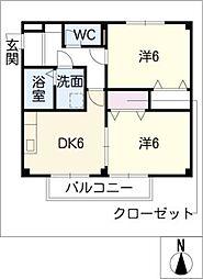 ファインヴィラV[2階]の間取り