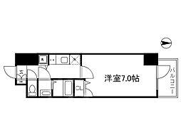 Osaka Metro谷町線 谷町四丁目駅 徒歩3分の賃貸マンション 2階1Kの間取り