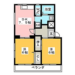 アメニティ伊藤[3階]の間取り