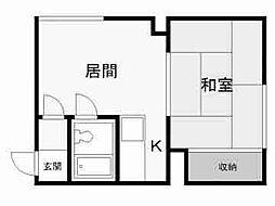 北海道札幌市豊平区月寒西三条7丁目の賃貸アパートの間取り