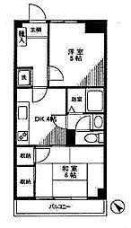 カームデイズAKA[4階]の間取り