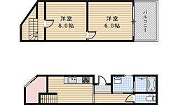 [一戸建] 大阪府大阪市阿倍野区王子町3丁目 の賃貸【/】の間取り