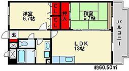 マンテンビュー[4階]の間取り