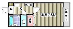 ラフィーネ美津屋[2階]の間取り