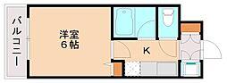 シャンブル塩原[1階]の間取り