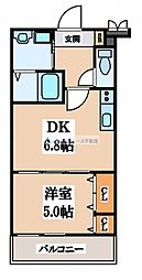 フジパレスフィオーレ八戸ノ里[3階]の間取り