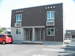 新潟県阿賀野市外城町の賃貸アパートの外観