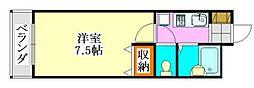 ユーコート津田沼[2階]の間取り