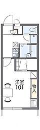 レオパレスGOLD LEOII[2階]の間取り