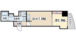 Osaka Metro谷町線 南森町駅 徒歩5分の賃貸マンション 15階1DKの間取り