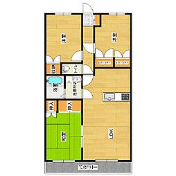 グランビュー21[4階]の間取り