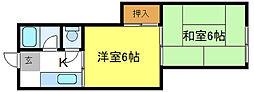 喜連マンション[4階]の間取り