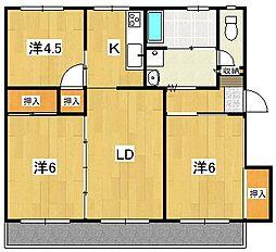 茨城県高萩市大字安良川の賃貸アパートの間取り