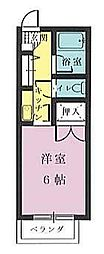 フォルム宮崎駅南[306号室]の間取り