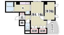 プリオーレ神戸Ⅱ[7階]の間取り