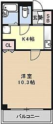 珠光松原ビル[501号室号室]の間取り