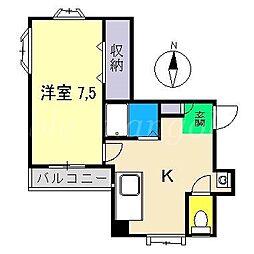 岩崎ハイツII[2階]の間取り