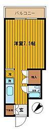 東京都新宿区南元町の賃貸マンションの間取り