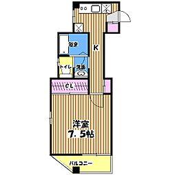 マ・メゾン国立[5階]の間取り