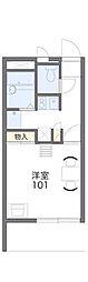 東京都葛飾区東新小岩4丁目の賃貸アパートの間取り
