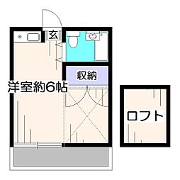 東京都西東京市泉町6丁目の賃貸アパートの間取り