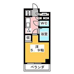 スペーシア堀田[7階]の間取り
