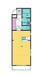 真岡鐵道 多田羅駅 3.5kmの賃貸マンション 2階1DKの間取り