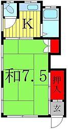 七福荘(東側)[1階]の間取り