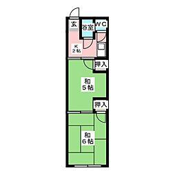 瑞陵荘[1階]の間取り