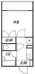 東京都新宿区山吹町の賃貸マンションの間取り