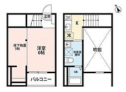 Blossm Meiji(ブロッサムメイジ)[1階]の間取り
