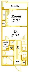 日神デュオステージ三ツ沢[2階]の間取り