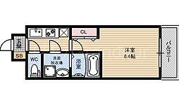 レジュールアッシュ大阪城北[2階]の間取り