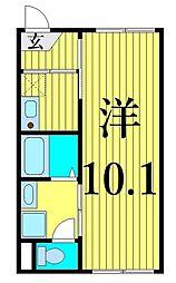 JR常磐線 南千住駅 徒歩12分の賃貸マンション 4階1Kの間取り