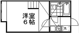 ポートヴィラ笹口[2階]の間取り