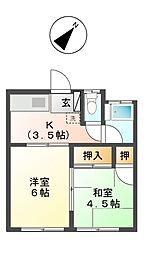 コーポ沢[1階]の間取り