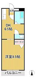 パークサイド小島[2階]の間取り