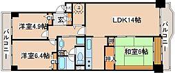 兵庫県神戸市中央区港島中町6丁目の賃貸マンションの間取り
