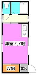 東京都練馬区石神井町4の賃貸アパートの間取り