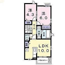三重県鈴鹿市若松東2丁目の賃貸アパートの間取り