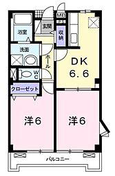 ローレル[2階]の間取り