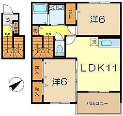 iスクエアwill[2階]の間取り