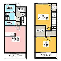 オーシャンテラスセントラ[1階]の間取り