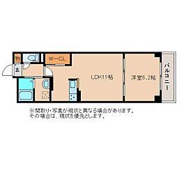 静岡県静岡市清水区高橋の賃貸アパートの間取り