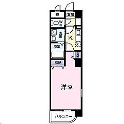 広島県福山市元町の賃貸マンションの間取り